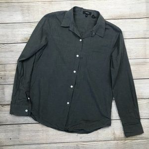 THEORY Women's perfect icon button down shirt M